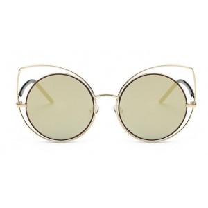 Zlaté sluneční brýle s designovým rámem