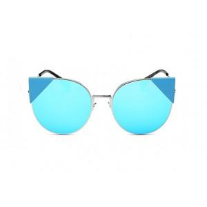 Modré dámské sluneční brýle v kočičím stylu