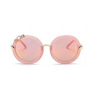 Dívčí sluneční brýle růžové s mašličkou
