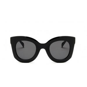 Černé plastové dámské sluneční brýle