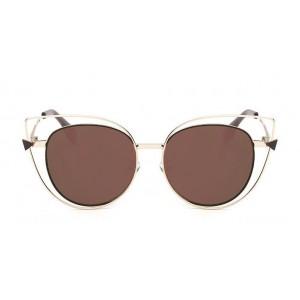Luxusní hnědo zlaté sluneční brýle dámské