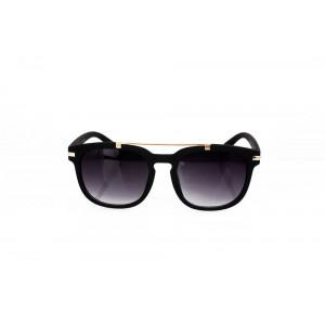Matné dámské sluneční brýle černé barvy