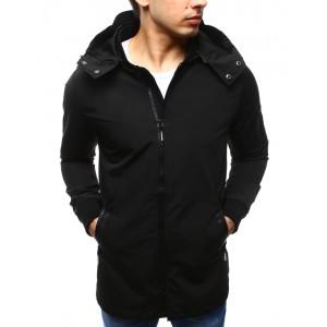 Elegantní jarní pánská bunda černé barvy