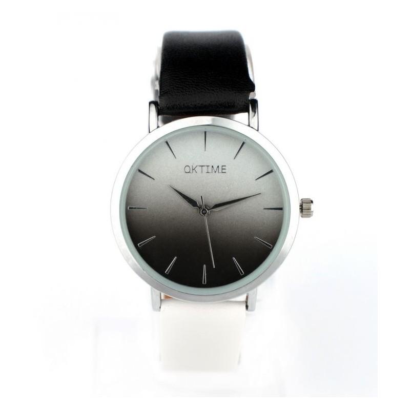 19c9e14b6 Luxusní dámské hodinky s černo bílým páskem