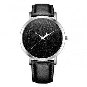 Černé elegantní dámské hodinky s vesmírným motivem