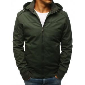Pánská elegantní bunda zelené barvy na jaro