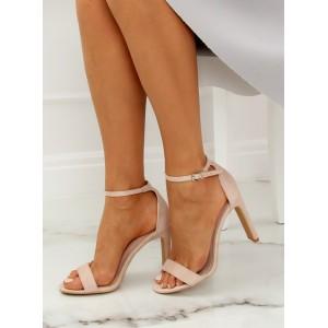 Semišové elegantní dámské sandály na léto
