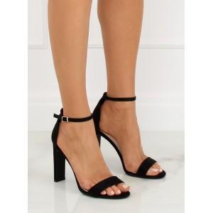 Černé dámské páskové sandály na ples