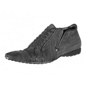 Pánské kožené sportovní boty šedé