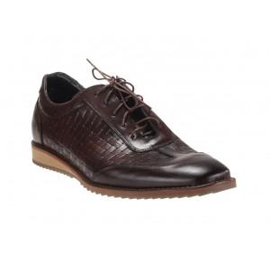 Pánské kožené sportovní boty hnědé barvy