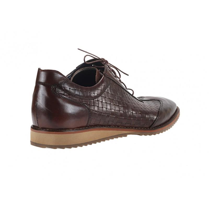 0be2052ada2 Pánské kožené sportovní boty hnědé barvy  Pánské kožené sportovní ...