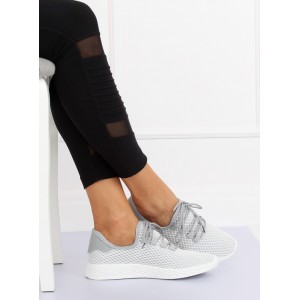 Moderní dámské sportovní tenisky šedé barvy s pružnou podrážkou