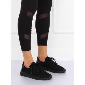Moderní dámské tenisky s měkkou podrážkou černé barvy