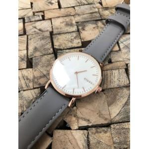 Sportovní dámské hodinky s šedým páskem a bílým ciferníkem