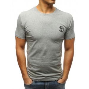 Pánské triko v šedé barvě s krátkým rukávem