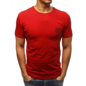 Pánské jednobarevné tričko v červené barvě