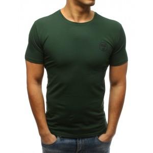 Pánské triko s krátkým rukávem v zelené barvě