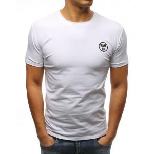 Tričko pro pány v bílé barvě bez potisku