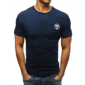 Stylové tričko v modré barvě s krátkým rukávem