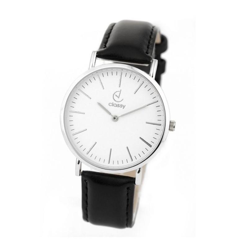 bdabe52ce Elegantní černé dámské hodinky se stříbrným ciferníkem