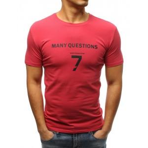 Pánské triko s krátkým rukávem růžové