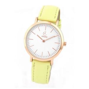 Dámské hodinky na ruku v žluté barvě menšího designu