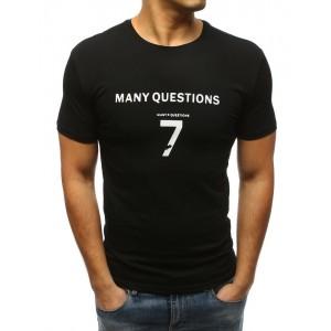 Tričko v černé barvě s krátkým rukávem pro pány