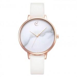 Dámské hodinky s mramorovým designem a zlato růžovým ciferníkem