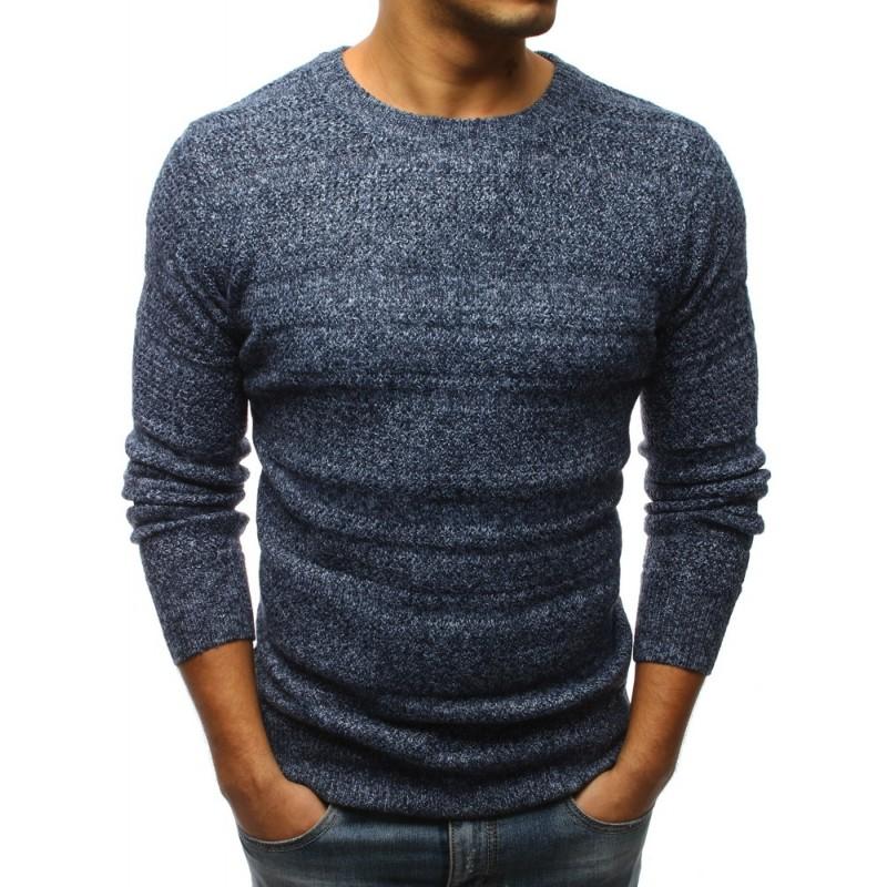 Elegantní pánský svetr modré barvy 9f650f1bd2