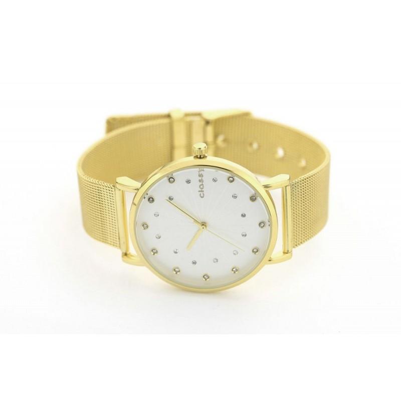 ... krystalky v ciferníku · Exkluzivní dámské zlaté kovové hodinky ... 12dc876e32
