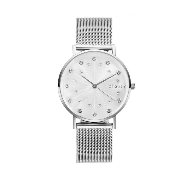 Luxusní zlaté dámské hodinky s ciferníkem římských číslic a krystaly 7447adbedc