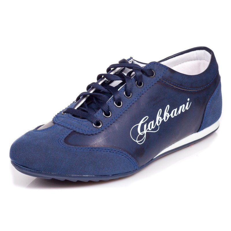 Sportovní pánská obuv se semišovou špičkou modré barvy - manozo.cz 23b32dab2ec