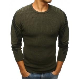 Klasický pánský svetr tmavě zelené barvy
