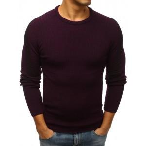 Trendový bordový pulovr pro pány