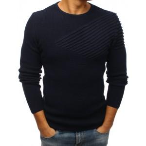 Elegantní svetr pro pány v tmavě modré barvě