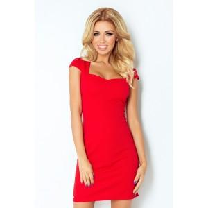Červené koktejlové krátké šaty dámské