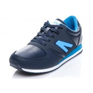 Pánská sportovní vycházková obuv modré barvy