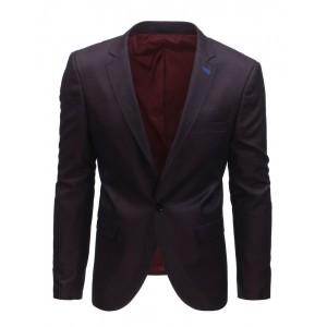 Elegantní pánské bordové sako s jedním knoflíkem