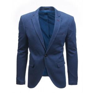 Pánské elegantní slim sako modré barvy