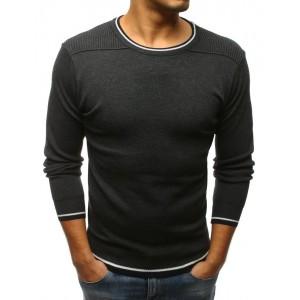 Elegantní tmavě šedý pánský pulovr pro pány