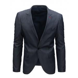 Moderní pánské tmavomodré sako s knoflíkem na zapínání