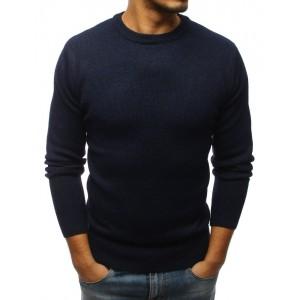 Moderní pánský svetr tmavě modré barvy