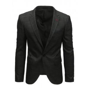 Neformální černé pánské sako slim