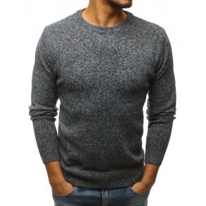 Stylový pánský pletený svetr šedé barvy