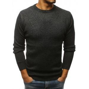 Moderní pánský pulovr tmavě šedé barvy