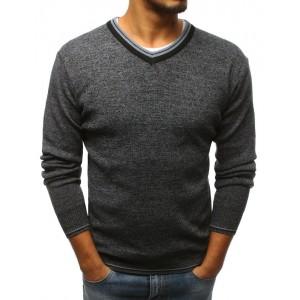 Elegantní pánský svetr s véčkovým výstřihem