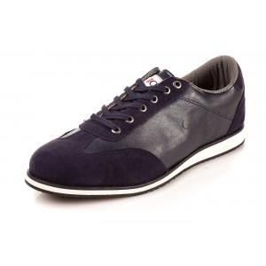 Pohodlné pánské boty tmavě-modré barvy se semišem