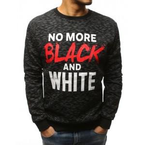 Moderní černá pánská mikina NO MORE BLACK AND WHITE