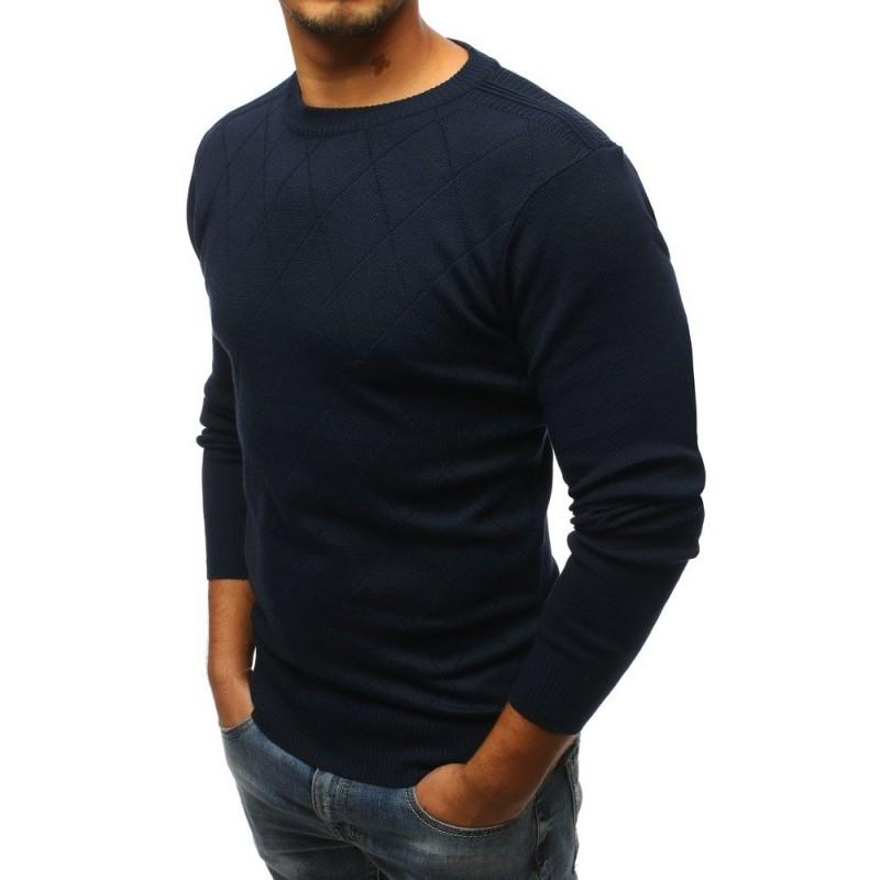 Elegantní pánský svetr tmavě modré barvy 57ef4efb43
