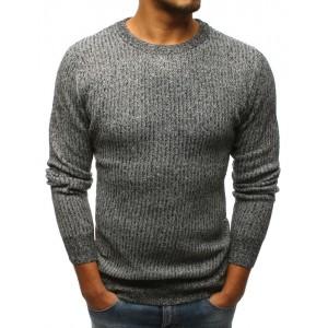 Šedý pánský svetr přes hlavu